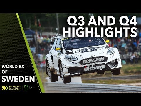 Q3 and Q4 Highlights   2019 Swecon FIA World Rallycross of Sweden