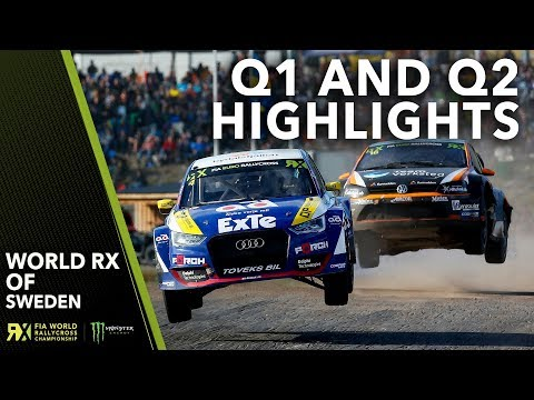 Q1 and Q2 Highlights   2019 Swecon FIA World Rallycross of Sweden