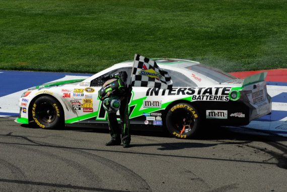 Kyle Busch at Fontana