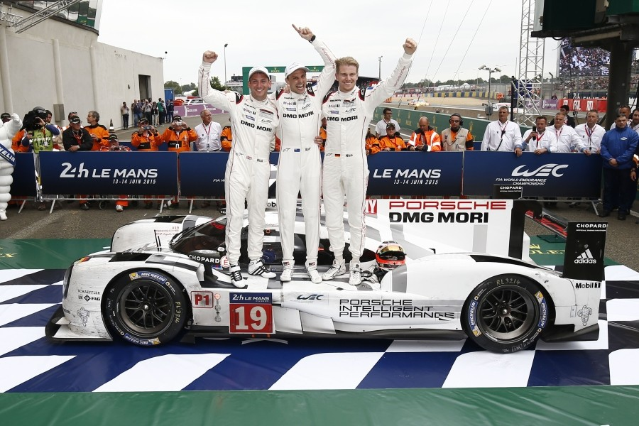 Victory Lane LeMans 2015